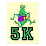 Funny 5K alien running Postcards