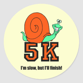 Funny 5K Classic Round Sticker