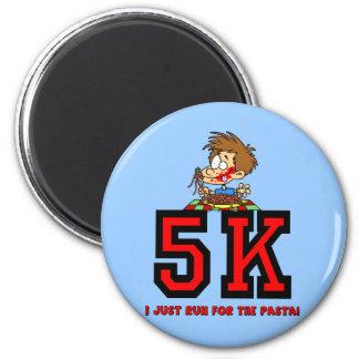 Funny 5K running 2 Inch Round Magnet