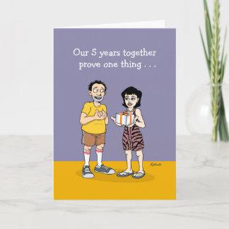 Funny 5th Anniversary Card