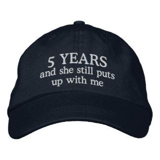 Funny 5th Anniversary Mens Hat Gift Cap
