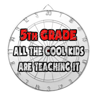 Funny 5th Grade Teacher Shirts and Gifts Dartboard