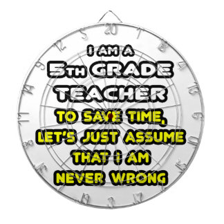 Funny 5th Grade Teacher T-Shirts and Gifts Dartboard With Darts
