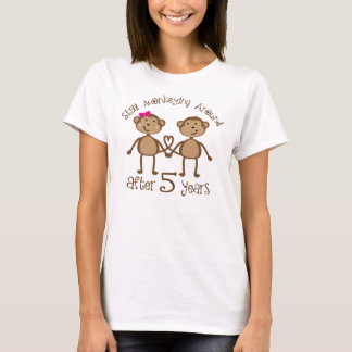 Funny 5th Wedding Anniversary Gifts T-Shirt