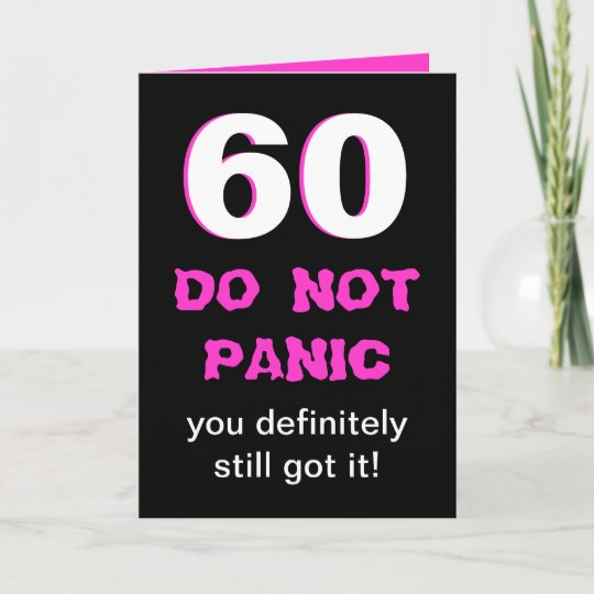 Funny 60th Birthday Card For Women
