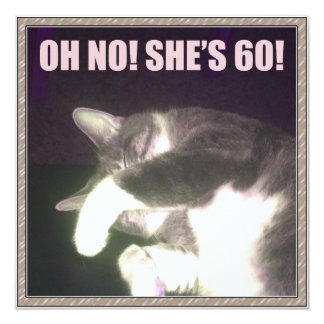 Funny 60th Birthday (Cat) Card