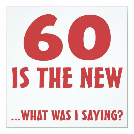 Funny 60th Birthday Gag Gifts Card