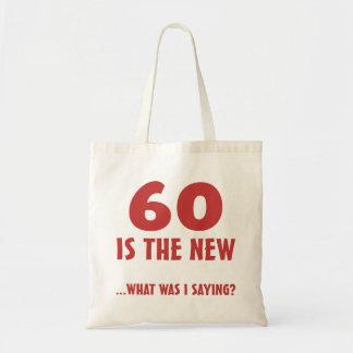 Funny 60th Birthday Gag Gifts Tote Bag
