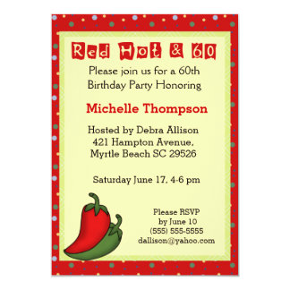 Funny 60th  Birthday Invitations