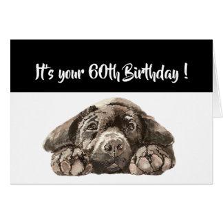 Funny 60th Birthday, Labrador Retriever Card