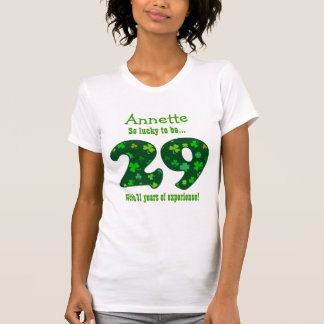 Funny 60th Birthday Shamrock Number Custom Name 3 Tee Shirts