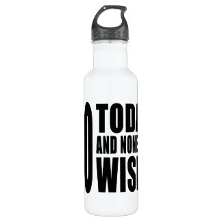 Funny 60th Birthdays : 60 Today and None the Wiser 24oz Water Bottle