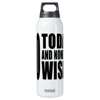 Funny 60th Birthdays : 60 Today and None the Wiser 16 Oz Insulated SIGG Thermos Water Bottle