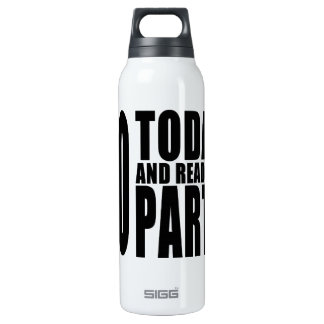 Funny 60th Birthdays : 60 Today and Ready to Party 16 Oz Insulated SIGG Thermos Water Bottle