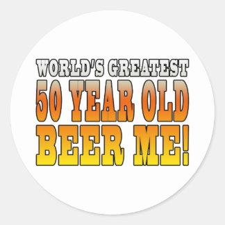Funny 60th Birthdays : Worlds Greatest 60 Year Old Classic Round Sticker