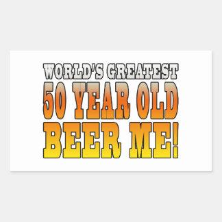 Funny 60th Birthdays : Worlds Greatest 60 Year Old Rectangular Sticker