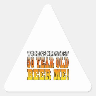 Funny 60th Birthdays : Worlds Greatest 60 Year Old Triangle Sticker