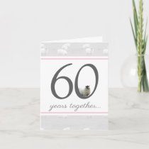 Funny 60th diamond husband/ wife anniversary card