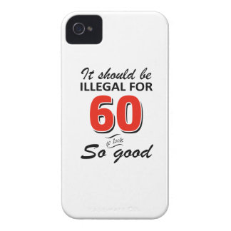 Funny 60th year old birthday designs iPhone 4 cover