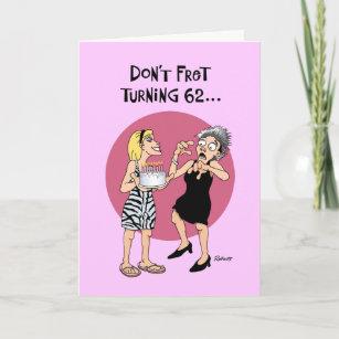 Funny 62nd birthdays cards zazzle funny 62nd birthday card m4hsunfo