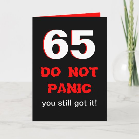 Funny 65th Birthday Card For Men Zazzle Com