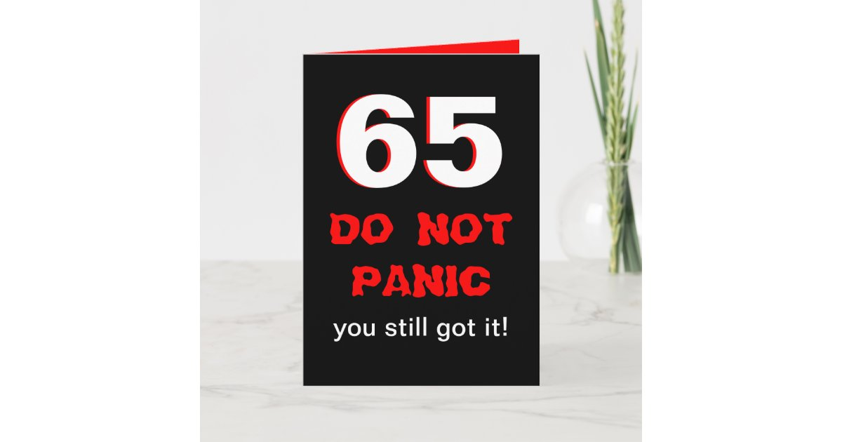 Funny 65th Birthday Card For Men