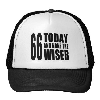 Funny 66th Birthdays : 66 Today and None the Wiser Hat