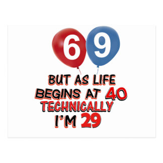 Funny 69th Birthday Cards Zazzle