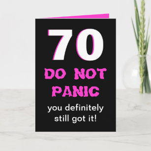 Funny 70th Birthday Card For Women
