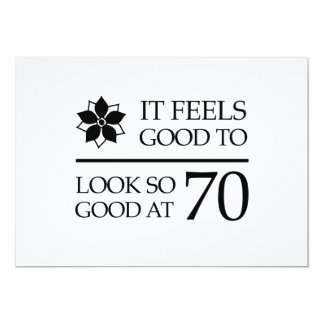 Funny 70th Birthday (Feels Good) Card