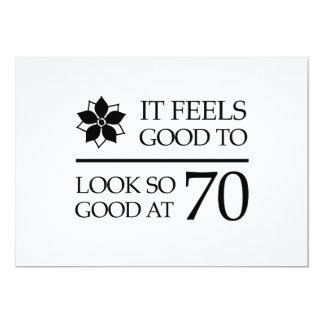 Funny 70th Birthday (Feels Good) 5x7 Paper Invitation Card
