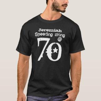 Funny 70th Birthday Gift Speeding Along T-Shirt