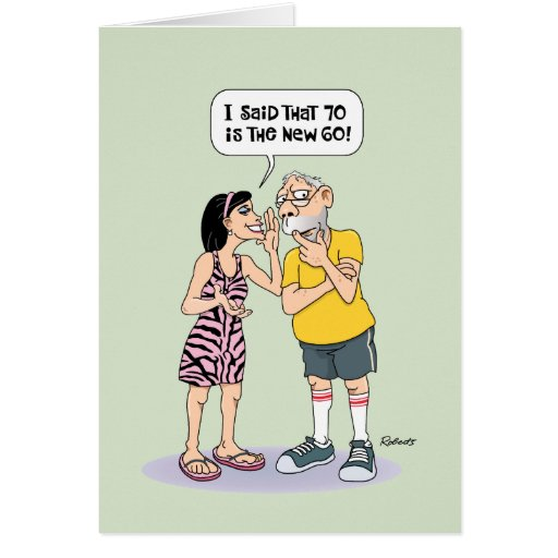 Funny 70th Birthday Greeting Card Zazzle on funny 70th birthday cards