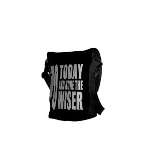 Funny 70th Birthdays : 70 Today and None the Wiser Courier Bag