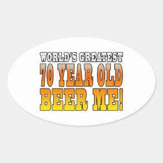 Funny 70th Birthdays : Worlds Greatest 70 Year Old Oval Sticker