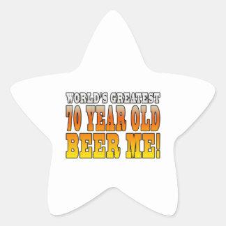 Funny 70th Birthdays : Worlds Greatest 70 Year Old Sticker