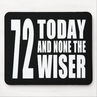 Funny 72th Birthdays : 72 Today and None the Wiser Mouse Pad