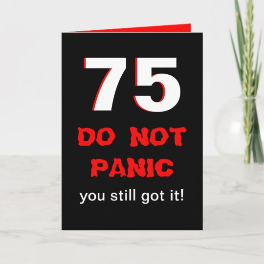 Funny 75th Birthday Card For Men
