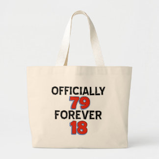 Funny 79 year old designs tote bag