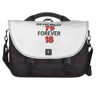 Funny 79 year old designs commuter bags