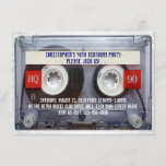 """Funny 80s Cassette Mixtape 40th Birthday Party Invitation<br><div class=""""desc"""">Funny 80s Cassette Mixtape 40th Birthday Party Invitation is perfect for your 1980s theme dance party or fortieth bash for men,  guys or anyone! Cool realistic cassette audio tape with a personalized label.</div>"""