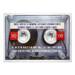 Funny 80s Cassette Mixtape Party 4.5x6.25 Paper Invitation Card