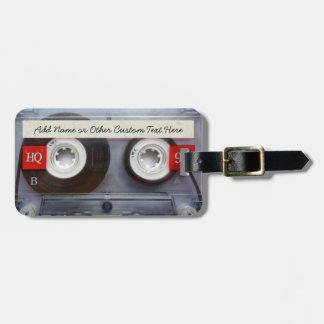 Funny 80's Cassette Tape, Personalized Bag Tag