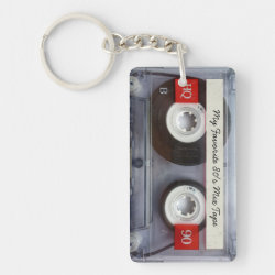 Funny 80's Cassette Tape, Personalized Keychain