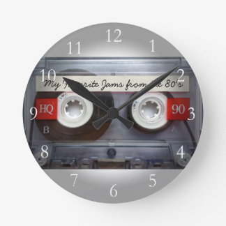 Funny 80's Cassette Tape, Personalized Wall Clock