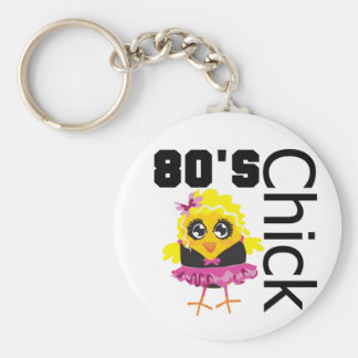 Funny 80s Chick Key Chains