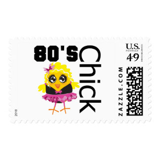 Funny 80s Chick Postage