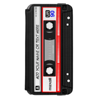 Funny 80's Retro Red Music Cassette Tape iPhone 6/6s Wallet Case