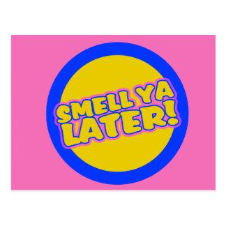 Funny 80s slang postcard
