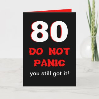Funny 80th Birthday Card for Men